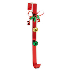 North Pole Trading Co. Iron Bow With Bells Wreath Hanger