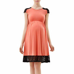 Glow & Grow Maternity Lace Insert Skater Dress