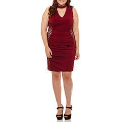 Bailey Girl Sleeveless Party Dress-Juniors Plus