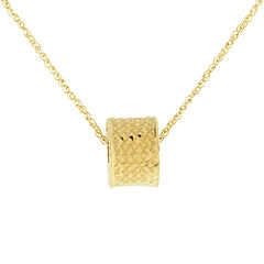 Infinite Gold™ 14K Yellow Gold Rondelle Bead Pendant Necklace