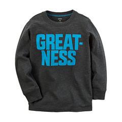 Carter's Long Sleeve Round Neck T-Shirt-Preschool Boys