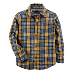 Carter's Long Sleeve Plaid Flannel Shirt-Toddler Boys