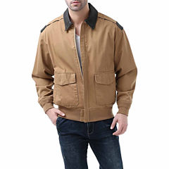 Landing Leathers Men's A-2 Leather Trim Bomber Jacket