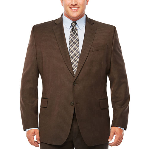 Stafford Stripe Classic Fit Stretch Suit Jacket-Big and Tall