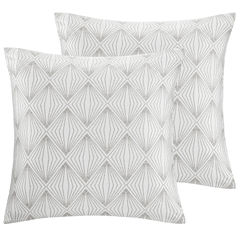 Madison Park Callista Metallic Faux Silk Throw Pillow Pair