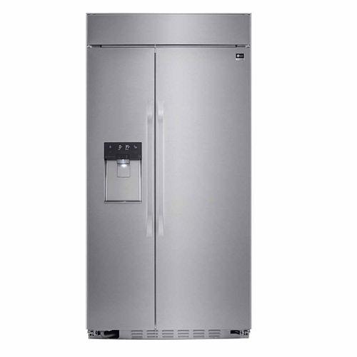 LG ENERGY STAR® 25.6 cu. ft. Cabinet Depth 42 Built-in Side by Side Refrigerator