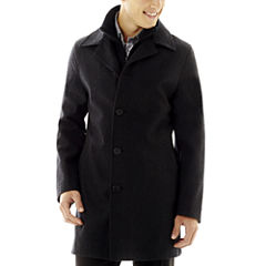 JF J.Ferrar® Charcoal Double Knit Collar Men's Jacket