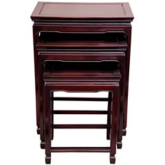 Oriental Furniture Rosewood 3-pc. Nesting Tables