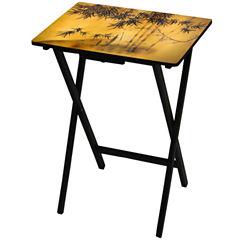 Oriental Furniture Bamboo Tree TV Tray Table