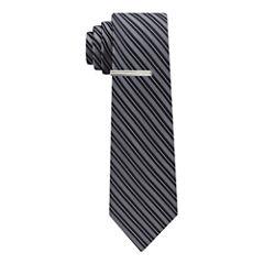 J.Ferrar Winter Formal Stripe Tie