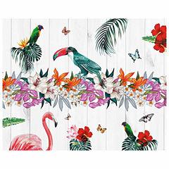 Brewster Wall Birds Of Paradise Wall Mural 6-pc. Wall Murals