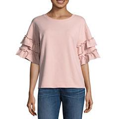 a.n.a Ruffle Pearl Sleeve Sweater