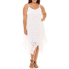 Soho Sleeveless Floral Maxi Dress-Plus