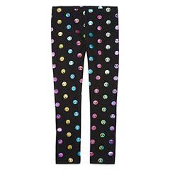 Total Girl Pattern Jersey Leggings - Preschool Girls