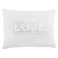 Frank And Lulu Love Sequin Pillow Rectangular Throw Pillow