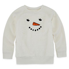 Okie Dokie Long Sleeve Sweatshirt - Toddler Girls