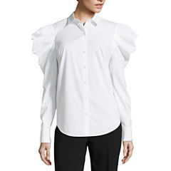 Worthington Volume Sleeve Button Front Shirt