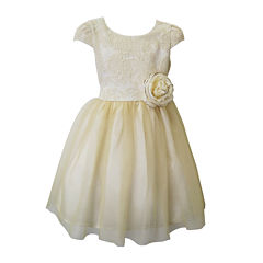 Lilt Short Sleeve Party Dress - Preschool Girls