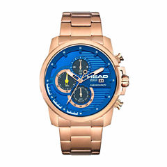 Head Topspin Mens Rose Goldtone Bracelet Watch-He-003-05