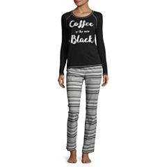 Sleep Chic Long Sleeve Knit Pant Pajama Set