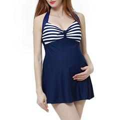 Glow & Grow Maternity UPF 50+ One Piece Halter Swimdress