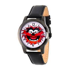 Disney The Muppets Mens Black Strap Watch-Wds000350