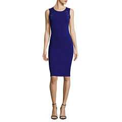 Almost Famous Sleeveless Cut Outs Bodycon Dress-Juniors