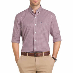 IZOD Advantage Performance Stretch Long Sleeve Gingham Shirt
