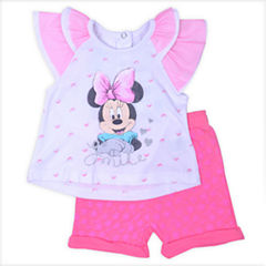 2-pc. Minnie Mouse Bodysuit Set-Newborn Girls