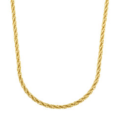 14K Yellow Gold 2.3mm Rope Chain Necklace