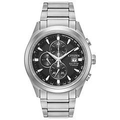 Citizen Mens Silver Tone Bracelet Watch-Ca0650-58e