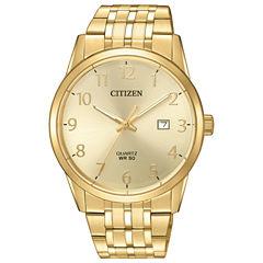 Citizen Quartz Mens Gold Tone Bracelet Watch-Bi5002-57q