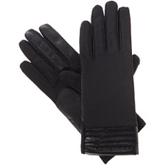 Isotoner Spandex Glove W/ Metallic Cuff and Smartouch Technology
