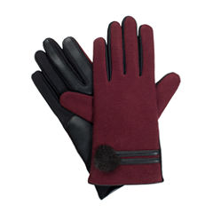 isotonerWomen's Faux Fur Pom Gloves with smarTouch® Technology