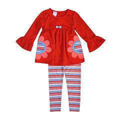 Nanette Baby 2-pc. Legging Set-Toddler Girls