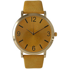 Olivia Pratt Womens Yellow Strap Watch-26268byellow