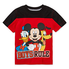 Disney by Okie Dokie Short-Sleeve Colorblock Tee - Boys 2T-5T
