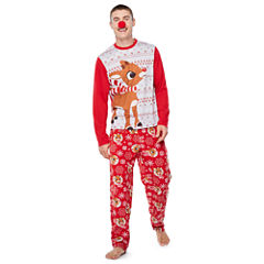 Rudolph The Red Nose Reindeer Family Pajama Set- Men's