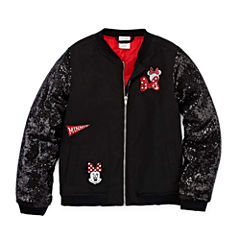 Disney Girls Minnie Mouse Lightweight Bomber Jacket - Big Kid