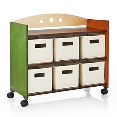 Guidecraft See and Store Rolling Storage Center