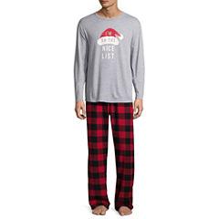 North Pole Trading Co. Checkin' It Twice Flannel Pajama Set- Men's