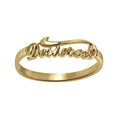 Personalized Script Name Ring