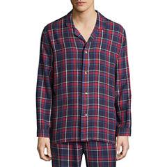 Izod Flannel Pajama Top-Big
