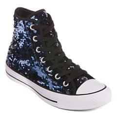 Converse Chuck Taylor All Star High-Top Sequin Womens Sneakers