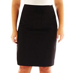 Liz Claiborne® Side-Zip Pencil Skirt - Plus