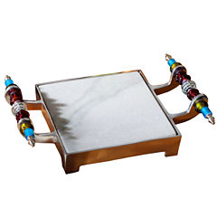 St. Croix Trading Kindwer Beaded Marble Cheese Serving Tray