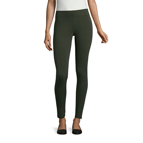 Mixit Duffle Green Knit Leggings - Tall