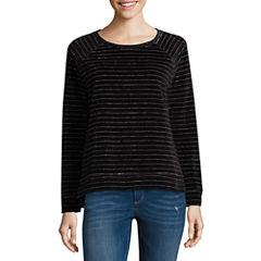 Liz Claiborne Long Sleeve Velour Sweatshirt