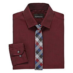 Van Heusen Shirt + Tie Set -8-20 Boys