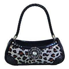Silver Leopard Print Handbag Ring Holder
